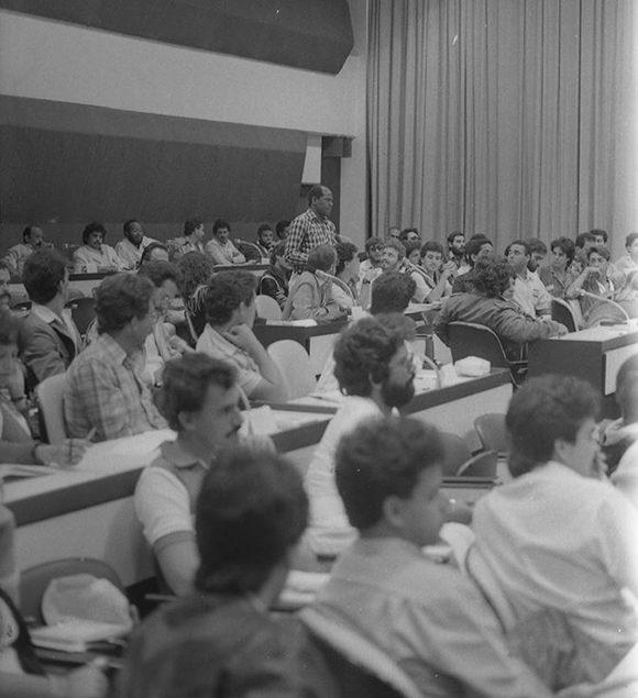 Consejo Nacional de la AHS en 1988 en el Palacio de las Convenciones. Foto: Archivo Periódico Juventud Rebelde.