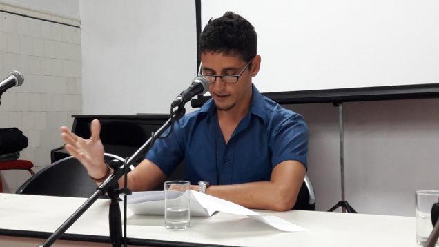 Alejandro Hernández en V Encuentro Hispanoamericano de Escritores (Foto Yunier Riquenes)