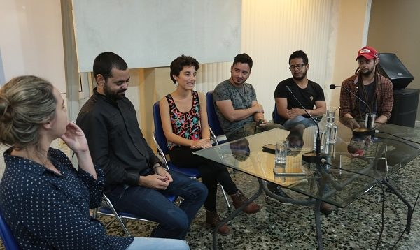 Conferencia de prensa Tocadiscos Foto: Eddos